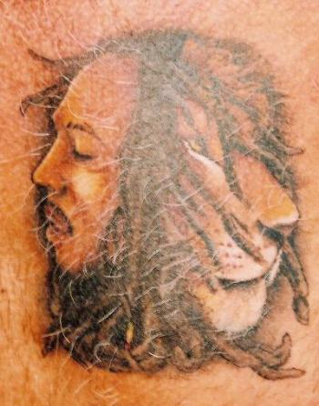 And this one disturbingly has Bob Marley growing out of the back of its head